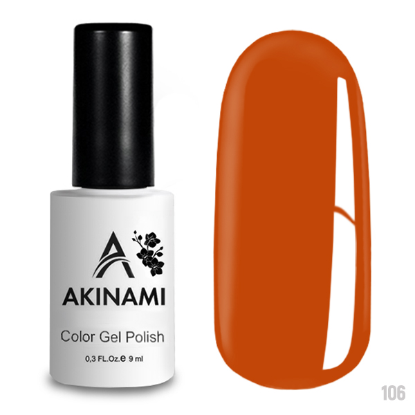 Гель-лак AKINAMI Color Gel Polish тон №106 Orange