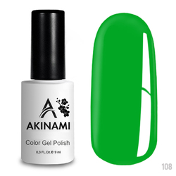 Гель-лак AKINAMI Color Gel Polish тон №108 Electric Green