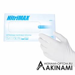 Перчатки NitriMAX (блок)  БЕЛЫЕ - S