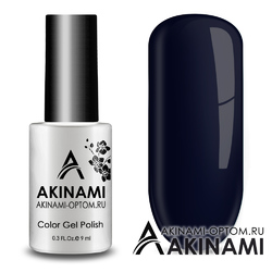 Гель-лак AKINAMI Color Gel Polish тон №158 Black Blue