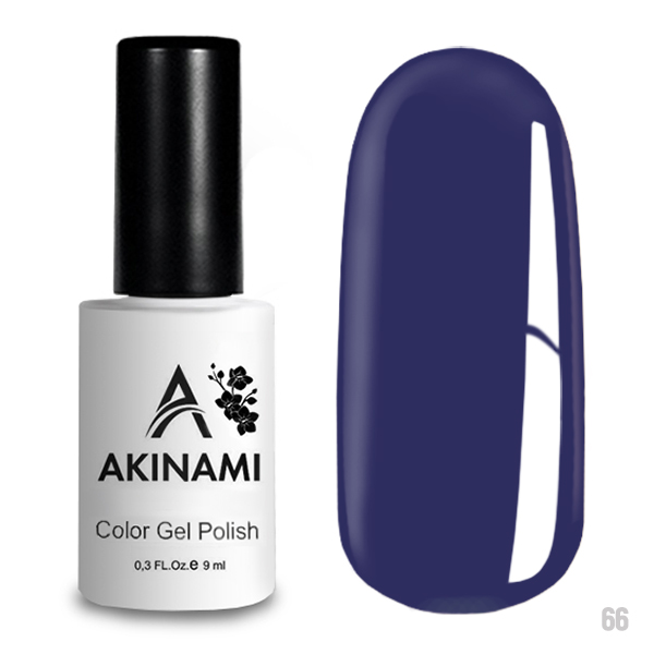 Гель-лак AKINAMI Color Gel Polish тон  №66 Dark Lilac