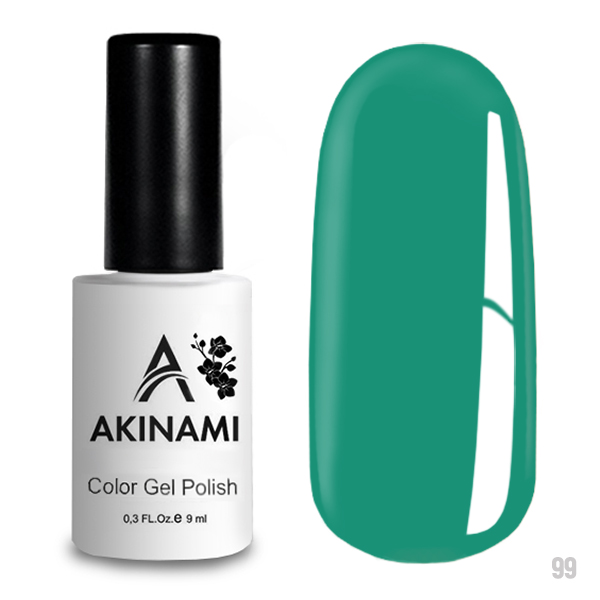 Гель-лак AKINAMI Color Gel Polish тон  №99 Turquoise