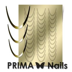 Металлизированные наклейки Prima Nails. Арт.CL-001, Золото