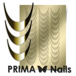 Металлизированные наклейки Prima Nails. Арт.CL-002, Золото
