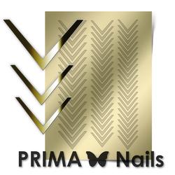 Металлизированные наклейки Prima Nails. Арт.CL-003, Золото