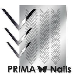 Металлизированные наклейки Prima Nails. Арт.CL-003, Серебро