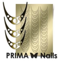 Металлизированные наклейки Prima Nails. Арт.CL-005, Золото