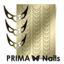 Металлизированные наклейки Prima Nails. Арт.CL-007, Золото