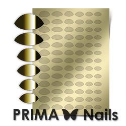 Металлизированные наклейки Prima Nails. Арт.CL-010, Золото