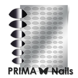 Металлизированные наклейки Prima Nails. Арт.CL-010, Серебро