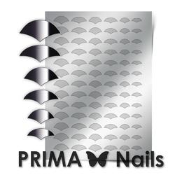 Металлизированные наклейки Prima Nails. Арт.CL-011, Серебро