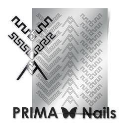 Металлизированные наклейки Prima Nails. Арт.CL-012, Серебро
