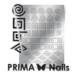 Металлизированные наклейки Prima Nails. Арт. GM-01, Серебро