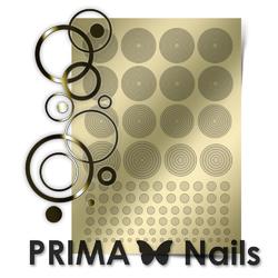 Металлизированные наклейки Prima Nails. Арт. GM-02, Золото