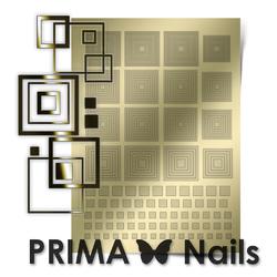 Металлизированные наклейки Prima Nails. Арт. GM-03, Золото