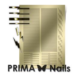 Металлизированные наклейки Prima Nails. Арт. GM-05, Золото