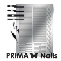 Металлизированные наклейки Prima Nails. Арт. GM-05, Серебро