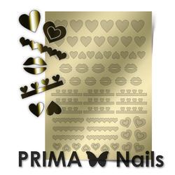 Металлизированные наклейки Prima Nails. Арт. LV-01, Золото