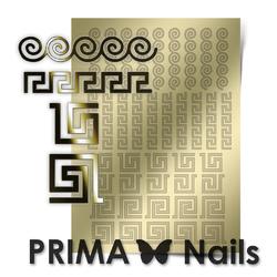 Металлизированные наклейки Prima Nails. Арт.OR-004, Золото