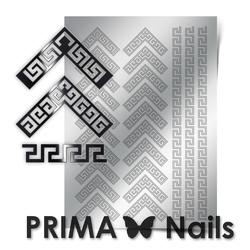 Металлизированные наклейки Prima Nails. Арт.OR-007, Серебро