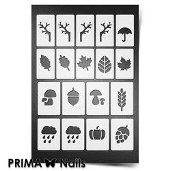 Трафарет для ногтей PrimaNails. Осень. NEW SIZE
