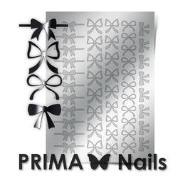 Металлизированные наклейки Prima Nails. Арт.PR-001, Серебро