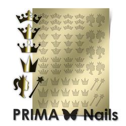 Металлизированные наклейки Prima Nails. Арт.PR-002, Золото