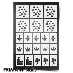 Трафарет для ногтей PrimaNails. Принцесса. NEW SIZE