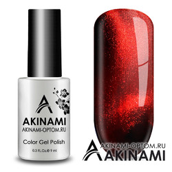 Гель-лак AKINAMI Color Gel Polish - Cat Eye Red 02