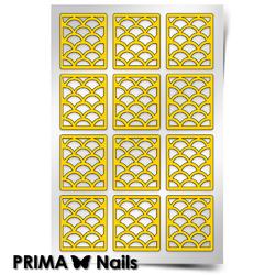 Трафарет для дизайна ногтей PrimaNails. Русалка (крупный)