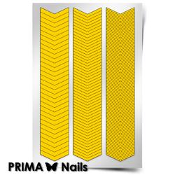 Трафарет для дизайна ногтей PrimaNails. Шевроны