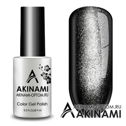Гель-лак AKINAMI Color Gel Polish - Cat Eye  Silver
