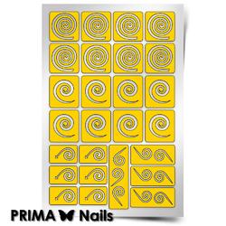 """Трафарет для дизайна ногтей PrimaNails. Спирали """"Круг"""""""