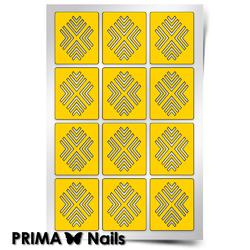 Трафарет для дизайна ногтей PrimaNails. Уголки