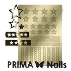 Металлизированные наклейки Prima Nails. Арт. UZ-02, Золото
