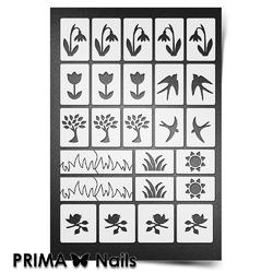Трафарет для ногтей PrimaNails. Весна. NEW SIZE