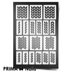 Трафарет для ногтей PrimaNails. Вязаная сказка. NEW SIZE