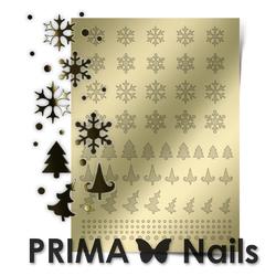 Металлизированные наклейки Prima Nails. Арт.W-02, Золото